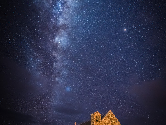 Milky Way over the Church