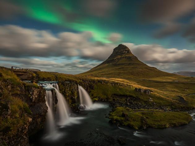 Aurora over Kirkjufell in Iceland