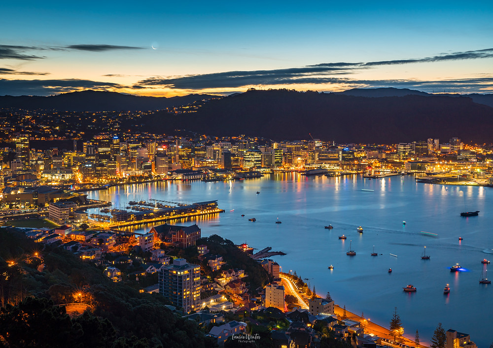 Wellington City from Mt Victoria at night