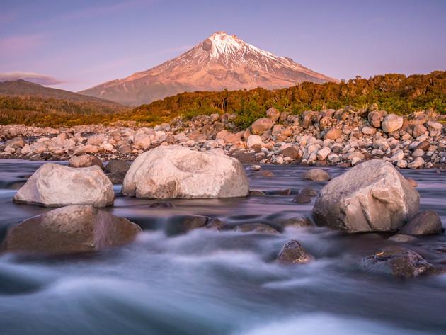 Stony River Sunset Taranaki