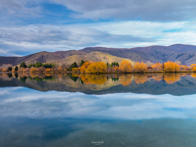 Autumn Reflections in Twizel Mackenzie