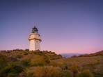 Purple Sunset Skies at Waipapa Point Lighthouse
