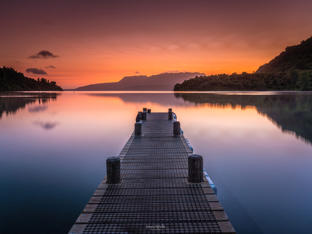 Sunrise Glow Lake Tarawera