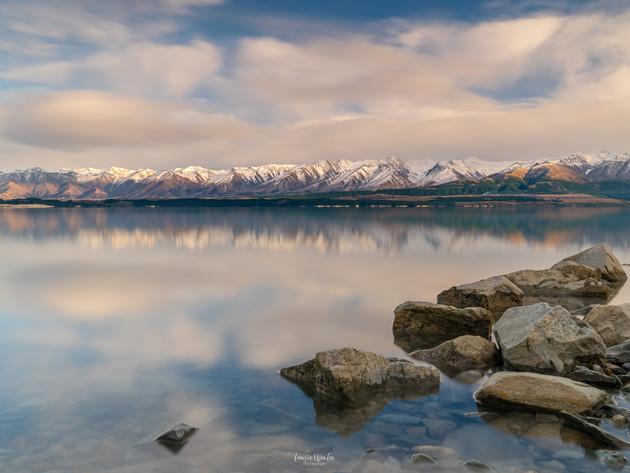 Lake Pukaki Sunrise Reflections