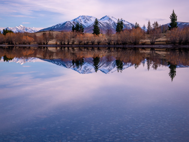 Lake Camp Reflections at Sunrise