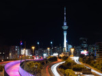 Auckland Sky Tower from Hopetoun Bridge