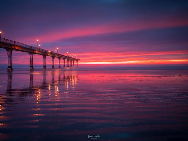 Stunning Sunrise at New Brighton Pier Christchurch