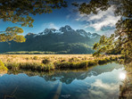 Mirror Lake Reflections Fiordland
