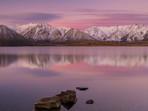 Lake Heron Pink Sunset