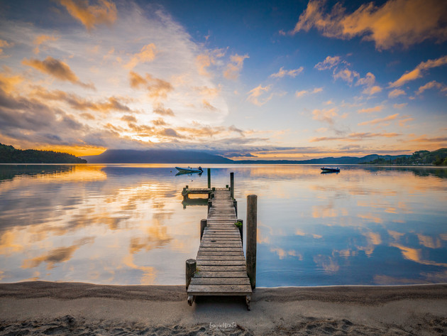 Sunrise at the Jetty Lake Tarawera