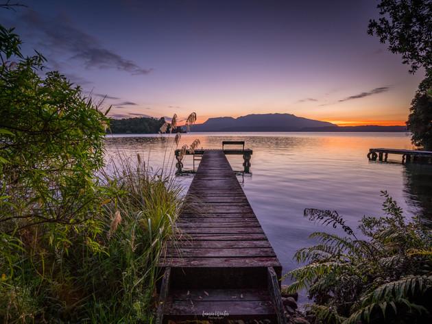 A Serene Sunrise on Lake Tarawera Rotorua