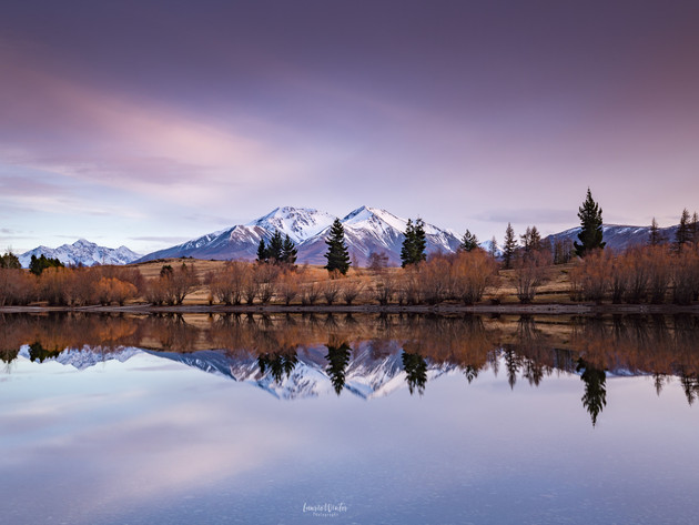 Lake Camp Pink Sunrise