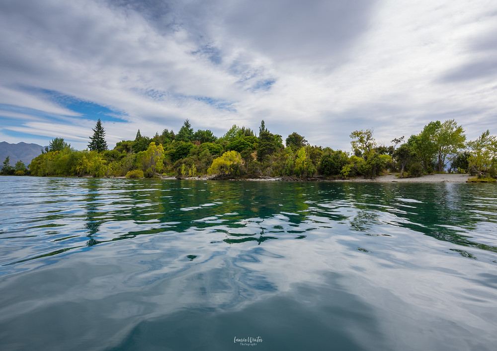 Kayaking to Ruby Island in Lake Wanaka