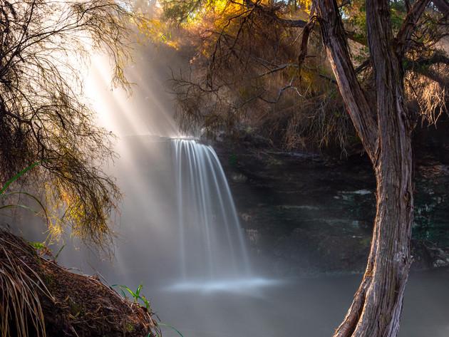 Steamy Waterfall in Rotorua