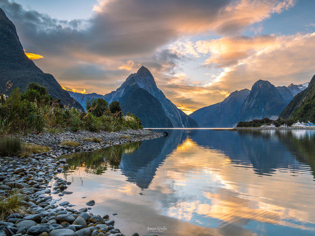 Sunset Clouds at Milford Sounds