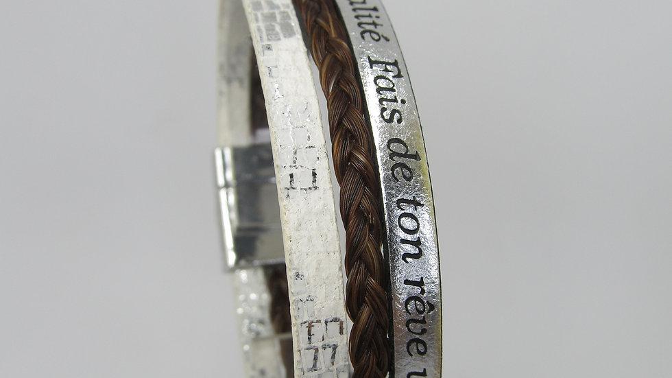 Bracelet en crin Atika