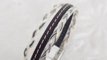 Bracelet en crin Dooble cousu