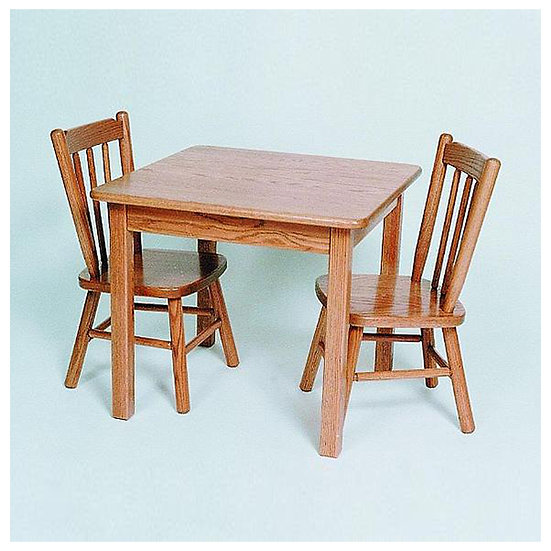Childs Table with Two Poster Childs Chairs