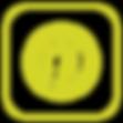 yellow Pinterest logo