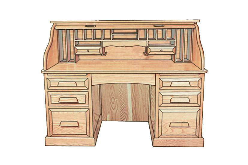 Conventional Rolltop Desk