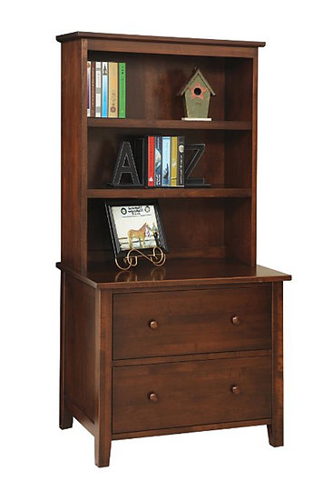 Manhattan Lateral File with Hutch Top