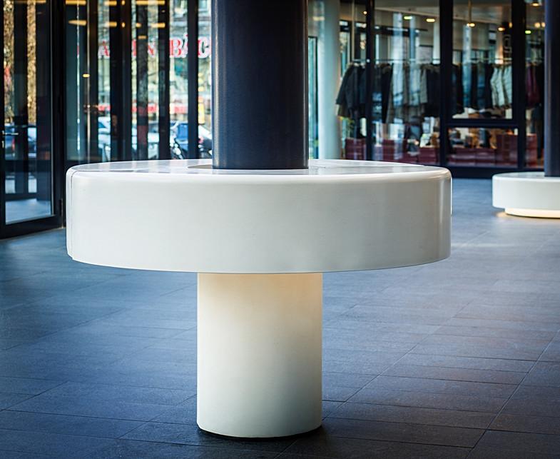 Concrete Seating Area