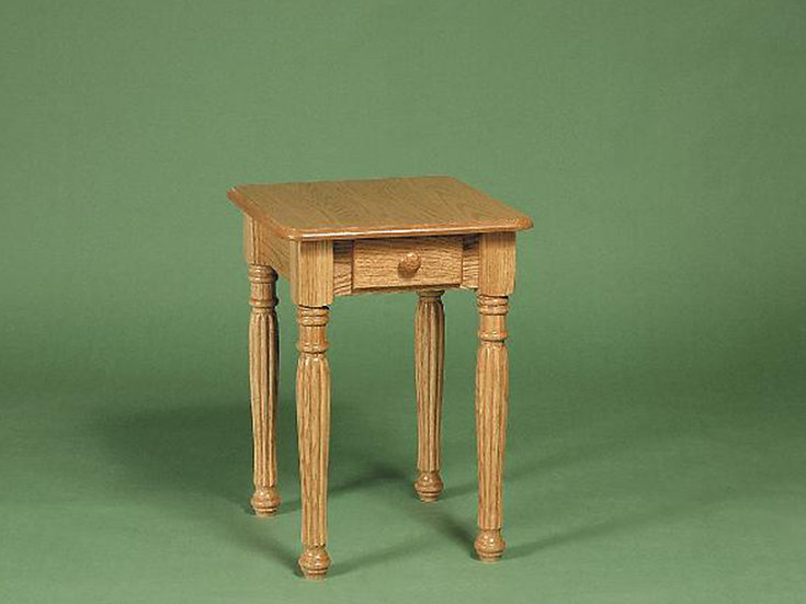 Colonial Fluted Chairside Table