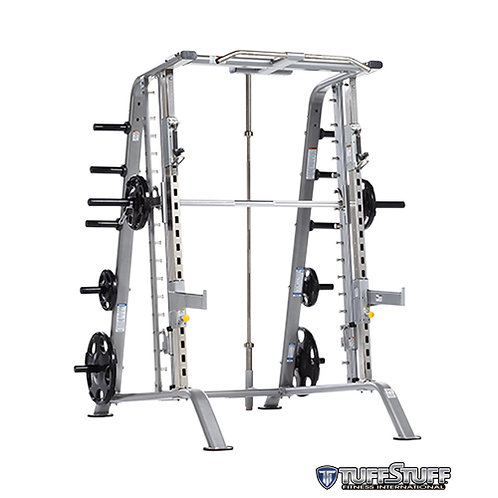 CSM-600 Smith Machine/Half Cage Combo with Safety Stoppers (TuffStuff)