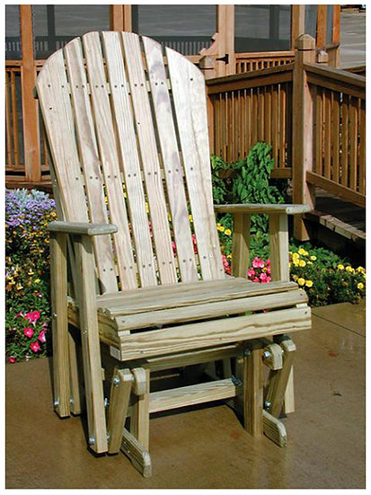 2 Ft Adirondack Wood Glider Chair