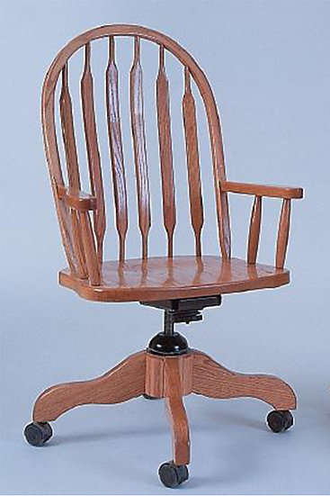 High Bent Paddle Arm Desk Chair
