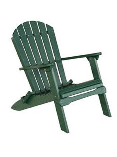 Green Folding Poly Adirondack Chair