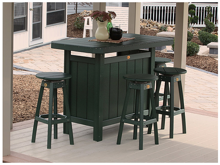 Poly Serving Bar with Stools