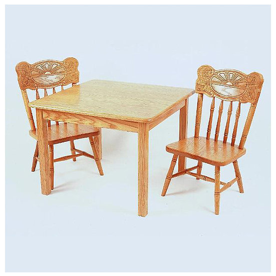 Childs Table with Sunburst Childs Chairs