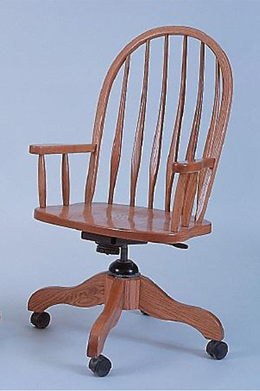 High Bent Feather Arm Desk Chair