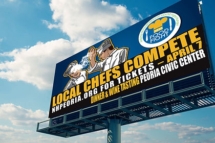 Mock-Up Billboard for Neighborhood House Peoria Food Fight competition
