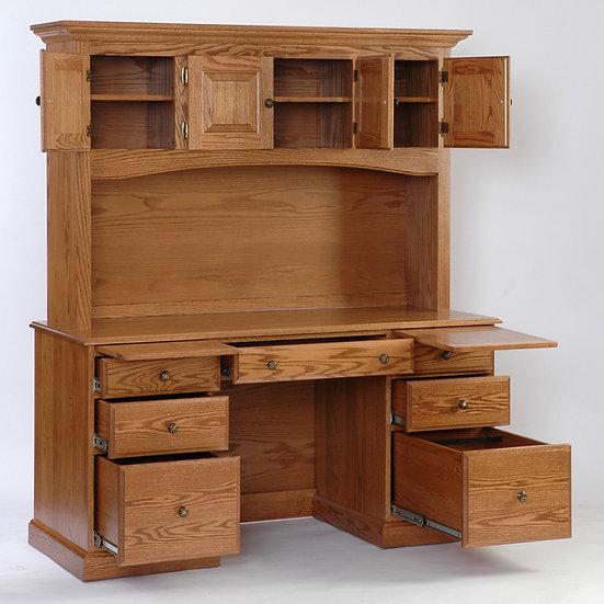 Pencil Desk with Hutch Top