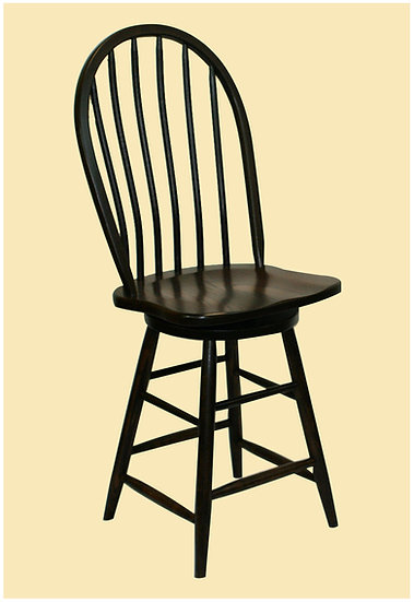 Bent Dowel Swivel Bar Stool by Pioneer