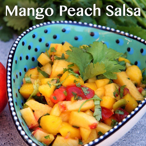 Mango Peach Salsa Jar Candle