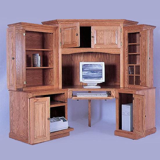 Deluxe 6 Piece Corner Computer Center