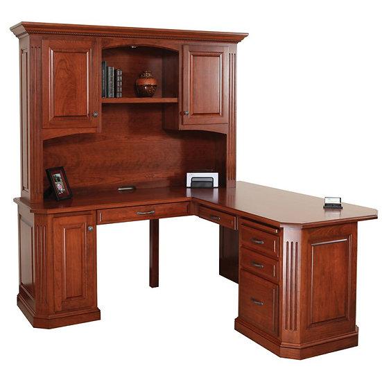 Buckingham Corner Desk with Hutch