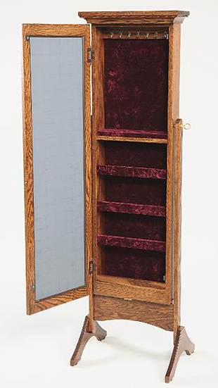Shaker Jewelry Armoire Cheval Mirror