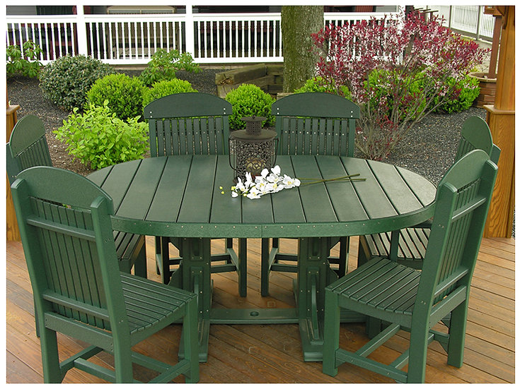4'x6' Oval Vinyl Table with Chairs