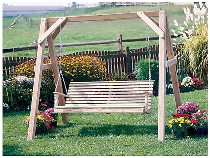 5 Ft Rollback Wood A Frame Swing