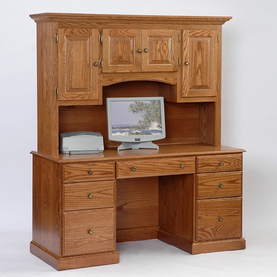 Computer Desk with Hutch Top