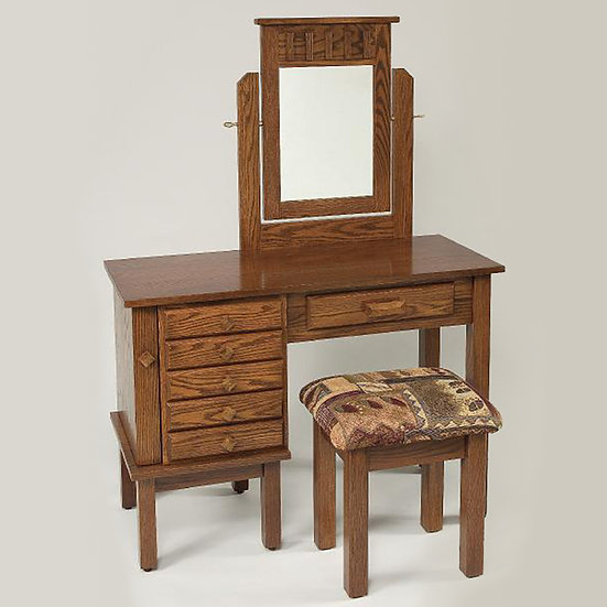 Shaker Jewelry Dressing Table with 812 Stool