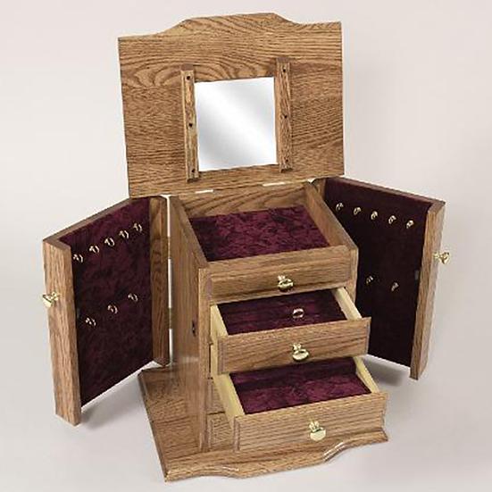 Queen Ann Dresser Top Jewelry Cabinet
