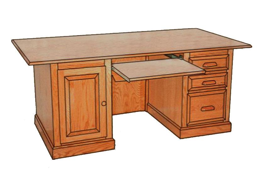 Traditional Computer Executive Desk