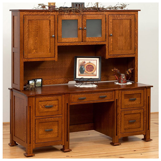 Parker Mission Desk with Hutch