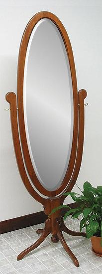 CCR Antique Oval Pedestal Base Cheval Mirror