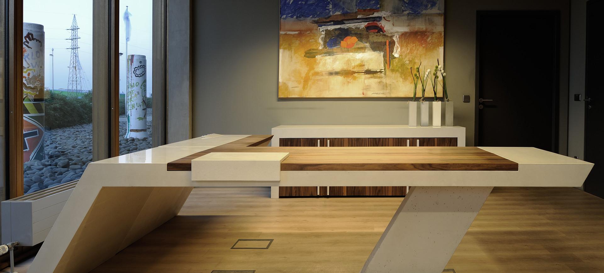 Custom Concrete Office Desk